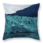 Margerie Glacier - Reflection Throw Pillow