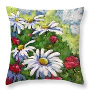 Marguerites 002 Throw Pillow