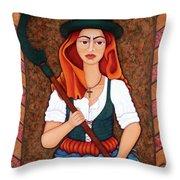 Maria Da Fonte - The Revolt Of Women Throw Pillow