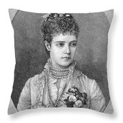 Maria Fyodorovna Throw Pillow by Granger