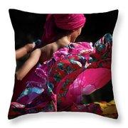 Mariachi Dancer 4 Throw Pillow