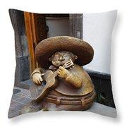 Mariachi Sculpture Throw Pillow