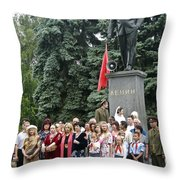 Mariage Under Lenin's Protection Throw Pillow