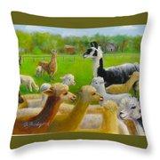 Mariah Guards The Herd Throw Pillow