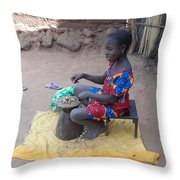 Mariama Working Throw Pillow