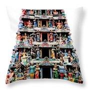 Mariamman Temple 3 Throw Pillow