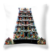 Mariamman Temple 4 Throw Pillow