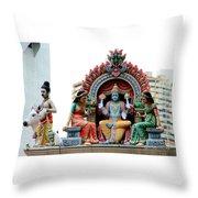 Mariamman Temple Detail 4 Throw Pillow