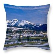 Mariapfarr Snowscape Throw Pillow