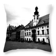 Maribor Square Black And White Throw Pillow
