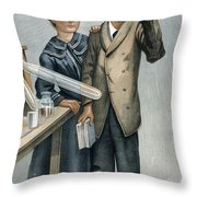 Marie And Pierre Curie Throw Pillow