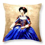 Marie Antoinette Figurine In New Orleans Throw Pillow