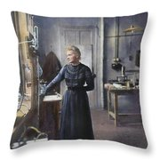 Marie Curie (1867-1934) Throw Pillow