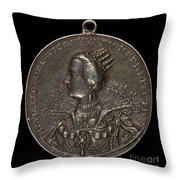Marie Eleonora Of Brandenburg, 1599-1655, Queen Of Sweden 1620 [reverse] Throw Pillow