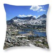 Marie Lake Panorama From High Above - John Muir Trail Throw Pillow