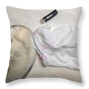 Marie Rouge Throw Pillow