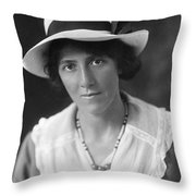 Marie Stopes (1880-1958) Throw Pillow
