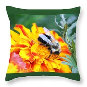 Marigold And The Bee Throw Pillow