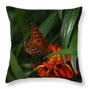 Marigold Grows Wings Throw Pillow