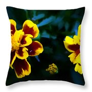 Marigold In Living Color Throw Pillow