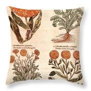 Marigolds Throw Pillow