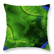 Marigolds In A Fractual Dream  Throw Pillow