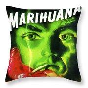 Marihuana Throw Pillow