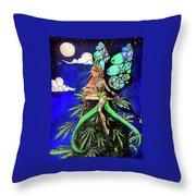 Marijuana Fairy Throw Pillow