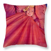 Marilyn In Bed Throw Pillow by Ken Meyer jr