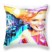 Marilyn In Italy Throw Pillow