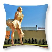 Marilyn In Palm Springs Throw Pillow