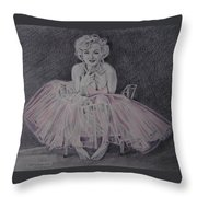 Marilyn In Pink Throw Pillow