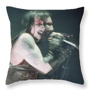 Marilyn Manson Throw Pillow
