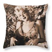 Marilyn Monroe 126 A 'sepia' Throw Pillow