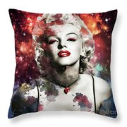 Marilyn Monroe   Colorful  Throw Pillow