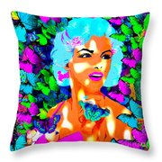 Marilyn Monroe Light And Butterflies Throw Pillow