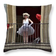 Marilyn Monroe Lookalike Throw Pillow