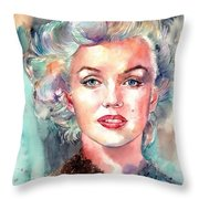 Marilyn Monroe Portrait Throw Pillow