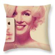 Marilyn Monroe Selfie 1 Throw Pillow