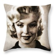 Marilyn Monroe, Vintage Actress Throw Pillow