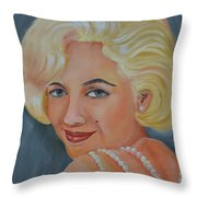 Marilyn Monroe With Pearls Throw Pillow