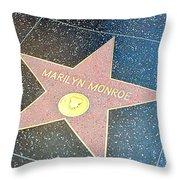 Marilyn's Star Throw Pillow