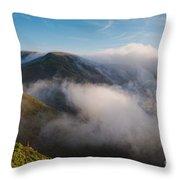 Marin Headlands Fog Rising - Sausalito Marin County California Throw Pillow