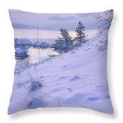 Marina And Snow Throw Pillow