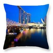 Marina Bay Sand Throw Pillow by Yew Kwang