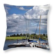Marina - Branched Oak Lake Throw Pillow