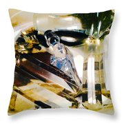 Marina Del Ray In Abstract Throw Pillow