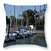 Marina Del Rey California 2 Throw Pillow