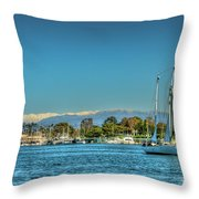 Marina Del Rey Channel Throw Pillow