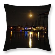 Marina Moon Throw Pillow